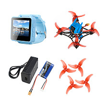 QWinOut T100 Indoor FPV Racing Drone Kit 2-4S DIY RC Drone with Crazybee F4 PRO V3.0 FC Frsky Receiver FPV Watch