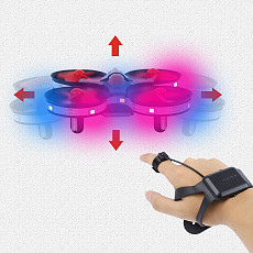 Feichao Mini UFO Drone Gesture Aircraft Induction Smart Watch Remote Sensing 3D Roll Light RC Helicopter Super Resistance Kids Toy Gift