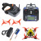 QWinOut T100 DIY FPV Racing Drone Toothpick Kit with Flysky Receiver Crazybee F4 PRO V3.0 FC Full Set with FPV Goggles