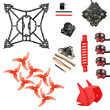 QWinOut DIY RC Accessories Kit for T100 Indoor FPV Racing Drone Crazybee F4 PRO V3.0 FC 1103 Motors 2.5 Inch 100mm Frame Kit