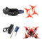 QWinOut T100 100mm DIY Indoor FPV Racing Drone Kit with Skyzone 02X FPV Goggles EX1103 2-4S Motors Frsky Receiver