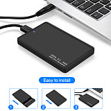 XT-XINTE ​HDD Case 2.5  SATA to USB 3.0 Adapter Hard Drive Plastic Case Tool 5Gbps Support UASP SSD 6TBw Storage Organizer