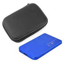 XT-XINTE 2.5  USB3.0 SATA Hard Disk Drive Aluminum Box 5Gbps External Box and Housing for HDD Support Case 3TB w / Storage organizer Bag