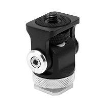 BGNING Portable 180 Wheel Snail Monitoring Tripod Adapter Hot Shoe Stabilizer Bracket Stand Holder
