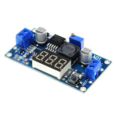 XT-XINTE 5A 75W LM2596 DC-DC Adjustable Step-down Voltage Regulator Power Module with Voltmeter Display