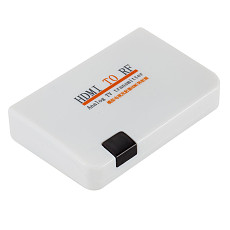 FCLUO for Digital TV HDMI to RF Coaxial Cable Converter Adapter with Remote Control + S Terminal Line