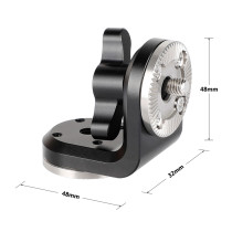 BGNING Camera Dual ARRI Rosettes Extension Mount Vertical Type with Central M6 Thread Rig