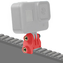 BGNING Action Camera Rail Mounting Adapter Bracket PLA 3D Printed Fixed Adapter for GOPRO /EKEN / Action Camera