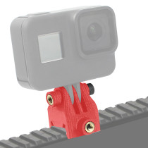 BGNING Action Camera 90 Degree Angle Guide Rail Mounting Adapter Bracket PLA 3D Printed Fixed Adapter for GOPRO /EKEN / Action Camera