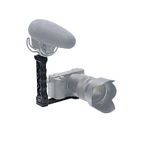 BGNING Aluminum 1/4 Inch Handle Grip with Cold Shoe Mount for Zhiyun Weebill Lab