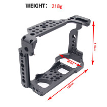 BGNING Camera with Arri Locating Holes Shoe Mount Form-Fitted Cage for Nikon Z6/Nikon Z7 Camera