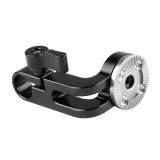 BGNING ARRI Rosette M6 Adapter 15mm Rod Clamp Gear Extension Arm For DSLR Handgrip Camera