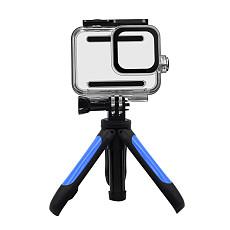 BGNing Mini Adjustable Tabletop Tripod Mount Pocket Selfie Stick Holder Camera Support with 60m Waterproof Case for Gorpo Hero 8