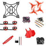 QWinOut T100 DIY FPV Racing Drone Kit with Supra F4-12A F4 Flight Control 1103 2-4S Motor Razer Micro FPV Camera