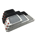 XT-XINTE 1PCS White 120/240/360mm Aluminium Water Cooling Computer Radiator Water Cooler 18 Tube CPU Heat Sink Exchanger