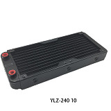 XT-XINTE PC Water Cooling Full Aluminum Radiator For Conputer CPU GPU VGA RAM Heatsink Exchanger Liquid Cooler 80 90 120 240mm