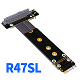 ADT-Link Riser Card U2 SFF-8639 ( U.2 ) to M.2 NVMe NGFF Key M key-M M2 Adapter Ribbon extender Cable For U.2 NVME SSD Hard Disk Driver