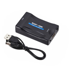 XT-XINTE SCART to 1080P HDMI Audio Video Converter Scaler Box w/USB Cable HDTV Monitor