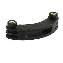 BGNING 3D Printing PLA Short Bending Rod Extension Arm Double-headed Clover M5 Card Sot Helmet Bracket Extension Bending Rod for GOPRO / SJCAM / Xiaomi / DJI Sports Cameras