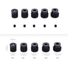 JMT 5Pcs 32DP 5mm 13T 14T 15T 16T 17T 20T 21T Metal Pinion Motor Gear Set for 1/8 RC Car Truck Brushed Brushless Motor