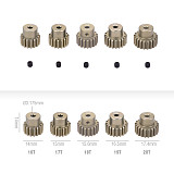 JMT 5Pcs 32DP 48DP 3.175mm 12T 13T-17T 18T 19T 20T 21T 22T 23T 24T 25T Metal Pinion Motor Gear Set for 1/10 RC Car Truck