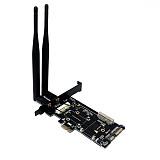 XT-XINTE PCI-E WiFi Adapter Mini PCI-E to PCI-E Network Card mSATA SSD to SATA 2.5 Adapter with SIM Card Slot for 3G/4G/LTE WiFi Adapter