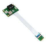 XT-XINTE PCIE Riser NGFF M.2 Key A/E to PCI-E Express X1+USB Adapter Riser Card with FPC Cable 4Pin Power Supply Cable PCIE Convert Cable