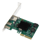 XT-XINTE Add on Cards PCI-E to USB3.1 Type-c Dual-port Expansion Card Desktop PC Motherboard PCIE 4x USB 3.1 Type-A Type C Riser Adapter