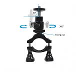 BGNING 360 Degree Rotating Gimbal Bracket Bike Fixing Clip Seat Bicycle Tube Clip for GOPRO / DJI / EKEN Camera