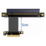 ADT-Link PCI-E x4 x16 Extension Riser 16x 4x PCIe3.0 GTX1080Ti Graphics SSD RAID Card Extender Conversion Cable Angled 1U PCI-Express