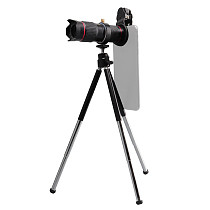 FCLUO Universal 15X Optical Zoom Telescope Phone Telephoto Lens Magnifier w/ Tripod and Storage Bag Kit Black Cellphone Lenses Cameras
