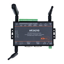 XT-XINTE New 4G GNSS Serial Device Server HF2421G RS232 RS485 RS422 to Ethernet 4G 3G GPRS Network Converter GPS Industrial Wifi Module