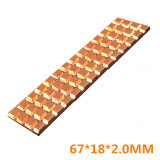 XT-XINTE Heatsink Cooler Copper Heat Sink Thermal Conductive Adhesive For M.2 NGFF 2280 PCI-E NVME SSD 67 * 18mm Thickness 2mm / 3mm / 4mm