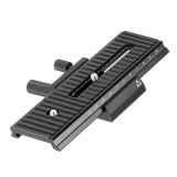 BGNing 2 Way Macro Focusing Rail Slider For Canon for Pentax Universal DSLR Camera 1/4  Screw Movable Head Tripod Plate Support