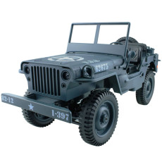 Feichao 1/10 RC Car 2.4G 4WD Remote Control Jeep Simulation Four-Wheel Drive Off-Road Military Climbing Car Diecast LED 4WD Vehicle Toys