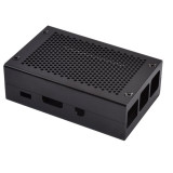 XT-XINTE Aluminum Alloy Case Cover Silver or Black Metal Case with Cooling Fan Heat Sinks for Raspberry Pi 4B Pi 3B Model B