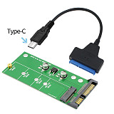 XT-XINTE Add On Card NGFF M.2 Adapter Plug&Play M2 SATA3 Raiser B-Key SSD Expansion Card 2in1 Converter USB 3.0 2.0 Type C Sata III Cable