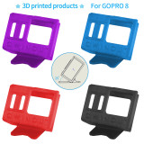 QWinOut 3D Print TPU Camera Mount 25 Degree 3D Printed Camera Holder 3D Printing Protective Cover for Gopro Hero 8 OWL260 Frame DIY RC Drone FPV Racer