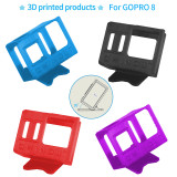 QWinOut 3D Print TPU Camera Mount 30 Degree 3D Printed Camera Holder 3D Printing Protective Cover for Gopro Hero 8 OWL260 Frame DIY RC Drone FPV Racer