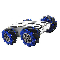 Feichao 103MM DIY Car Vehicle Intelligent Omni-Wheel Armored Trolley Wheel Wheelbase Smart Car Chassis Full set DC12V Motor 6-12V 100mA 170-350/RPM