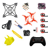 QWinOut T100 DIY RC Drone Kit Standard Version with 100mm Frame Supra F4-12A F4 Flight Control 1103 Motor Razer Micro FPV Camera T8S Remote Controller