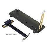 ADT-Link PCIe X1 PCI-E 3.0 1X 90 Degree Extender Ribbon Adapter Extension Cable With Vertical Bracket Stand Holder Base Bracket ADT Cable