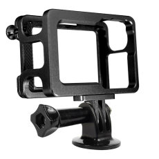 BGNING Aluminum Alloy Protective Frame Camera Shell Housing Frame Case with Mount Base For DJI Osmo Action Camera Accessories