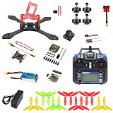 JMT T210 Full Set DIY FPV Racing Drone Kit RC Quadcopter with 210mm Frame Kit OmniF4 Pro V2 Flight Control FS I6 Remote Controller