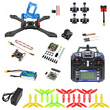 JMT T210 Full Set DIY FPV Racing Drone Kit RC Quadcopter with 210mm Frame Kit OmniF4 Pro V2 Flight Control FS I6 Remote Controller