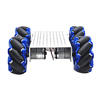 Feichao 103MM DIY Car Intelligent Mobile Robot Trolley Metal Structure DIY Experimental Vehicle Smart Car Chassis Full Set For Kids Car model Gift