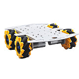 Feichao 4WD Competition Vehicle Metal Structure Intelligent Robot Trolley Chassis DIY Building Full Set For Kids Car model Gift