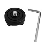 BGNING Camera Mini PTZ Photography Hot Shoe Mounting Parts 1/4 Adapter Cold Shoe Base Flash Light Conversion Base
