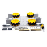 Feichao 4 Wheel Drive Educational Robot Competition Car UNOR3 Experiment Development Board 4WD Car Chassis For DIY Full set Car Model