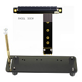 ADT-Link PCIe PCI-E 3.0 16X M.2 NGFF NVMe Bracket Graphics Card w/ Vertical Stand Holder Base Bracket M.2 16x ADT Cable DIY ATX Case